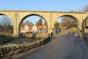 Disused railway arch over Harbour Road. 3.2.2012.