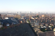 looking north towards the city centre from St John's Church