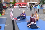 Sainsbury's Wareham demoes Sitting Down Volleyball
