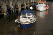 fishing boats at Halfpenny pier