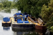 Canal clearing barge on Erewash Canal, Shipley.