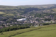 Panoramic view of Rawtenstall taken from Whinberry Naze