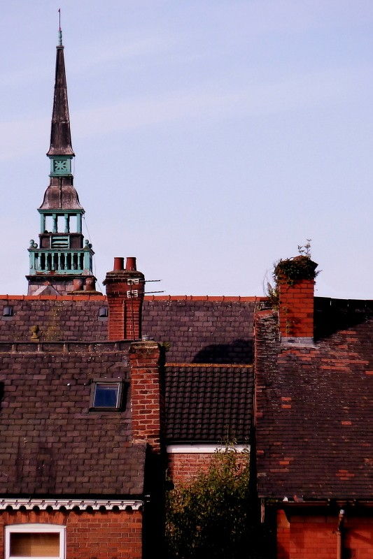 Rooftops in Moss Side, Manchester